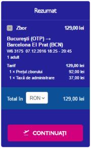 București - Barcelona